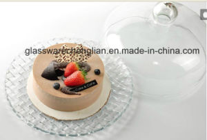 Machine Made Glass Cake Plate with Dome (P-007) pictures & photos