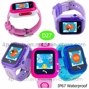 Kids Smart GPS Tracker Watch with 1.22′′touch Screen D27 pictures & photos