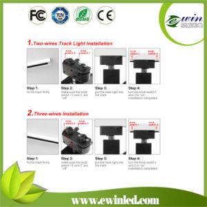 Dimmable 60W COB Tracklight with Ies Files pictures & photos