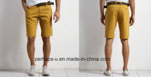 Cool Mens Khaki Cotton Shorts pictures & photos