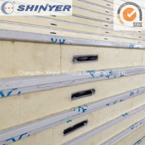 120mm Polyurethane PU Sandwich Panel with 0.8mm Color Steel Plate pictures & photos