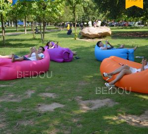 Factory Wholesale Inflatable Sleeping Lazy Bags Air Lounger Sofa Chair Inflatable Hammock pictures & photos