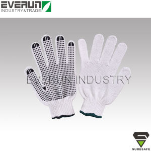 PVC Dotted Gloves Cheap Working Gloves Disposable Cotton Gloves pictures & photos