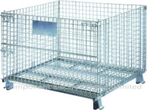 Storage Cage, Wire Mesh Cage, Stackable Cage, Metal Cage Container pictures & photos