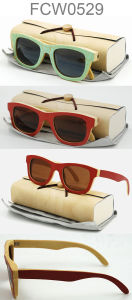 2016 New Bamboo and Wooden Sunglasses with Polarized Lens pictures & photos