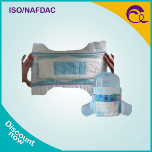 White Adl Economic Cheap Baby Diaper with PE Film to Africa