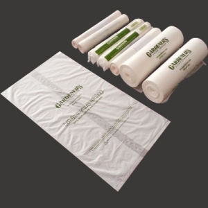 100% Fully Biodegradable/Compostable/Bioplastic Garbage Bin Bag in Roll