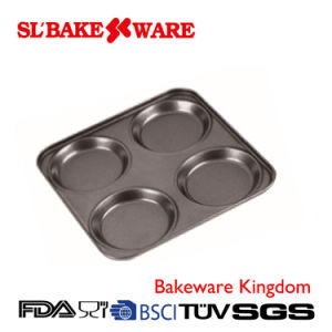 4 Cup Yorkshire Pudding Tray Carbon Steel Nonstick Bakeware (SL-Bakeware)