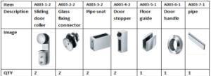 65kg Heavy Duty Glass Sliding Door Roller for Shower Bathroom pictures & photos