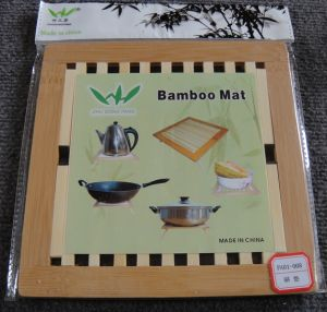 (BC-M1009) Handmade Natural Bamboo Square Heat Insulation Mat pictures & photos