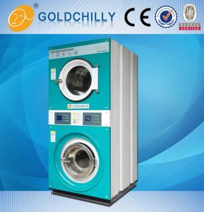 Shanghai Commercial Double Stack Washer and Dryer for Laundry Shop pictures & photos