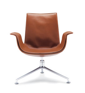 Swivel Fiberglass North European Style Furniture Armrest Office Chair pictures & photos