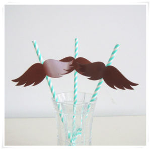 Wholesale Eco-Friendly Disposable Drink Paper Straws with Wing Tag pictures & photos