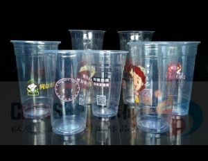 Custom Printed Clear Transparent Disposable PP Pet Plastic Cup with Lid pictures & photos