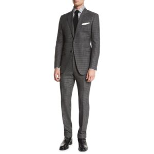 Made to Measure Hand Made Tailor Men′s Slim Fit Suit Fancy Blazer Jacket and Pants (SUIT62843-10) pictures & photos