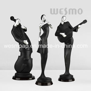 Musicians Fun Art Craft Black and Silver Statue Sculpture pictures & photos