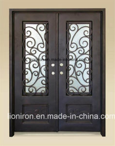 Home Used Cold Rolled Steel Double Swing Iron Doors pictures & photos