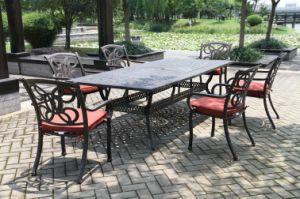High-Quality Garden Cast Aluminum Dining Set Furniture pictures & photos