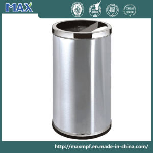 Stainless Steel Dustbin with Ashtray Lid pictures & photos