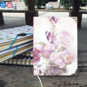 64k Flower Hardcover Paper Notebooks with Copper (XLJ64128-X02)