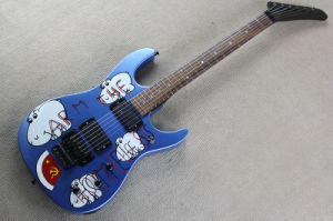 Hanhai Music/Blue Electric Guitar with Floyd Rose (ARM THE HOMELES) pictures & photos
