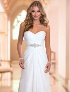 Sale Chiffon Wedding Gowns Strapless Empire jewelry Bridal Dresses Z1036 pictures & photos