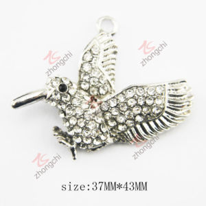 Fashion Metal Crystals Eagle Charm Pendant (MPE)