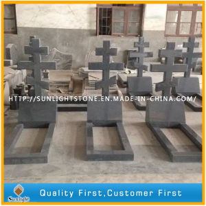 European Style G654 Granite Cross Gravestone for Russia Market pictures & photos