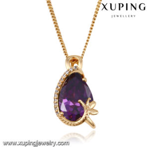 32683 Fashion Elegant Eye Tear Crystal Jewelry Necklace Pendant in Gold-Plated pictures & photos
