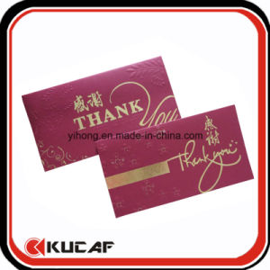 Embossing Hot Stamping Pearl Paper Thank You Card with Envelope pictures & photos