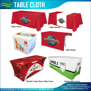 2016 Trade Show Advertising Printed Custom Table Cloths (T-NF18F05029) pictures & photos