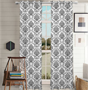 Printed Curtain Canvas Grommet Panel pictures & photos