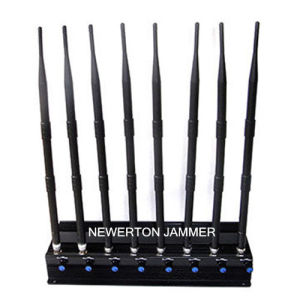 High Power Adjustable 8 Antennas 5.8g 5.2g WiFi Jammer Cellular 2g 3G 4G Signal Blocker Jammer pictures & photos
