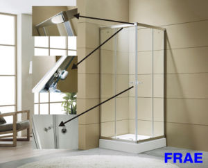 Excellent Waterproof Performance Tempered Glass Shower Stalls pictures & photos