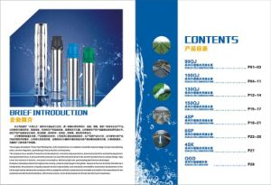 Stainless Steel Submersible Pump for Deep Well pictures & photos