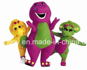 Super Quality Purple Dinosaur Barney Cartoon Character Mascot Costume pictures & photos