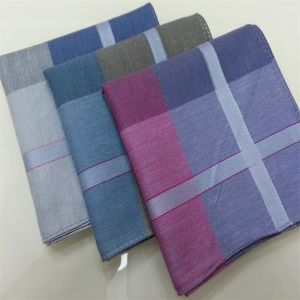 3 Colors Designed Plain Print Cotton Handkerchief pictures & photos