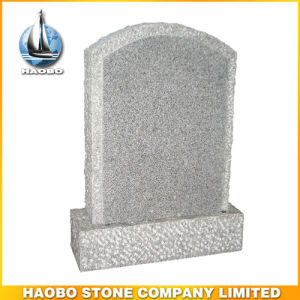 Grey Granite Lawn Headstone for Sale pictures & photos