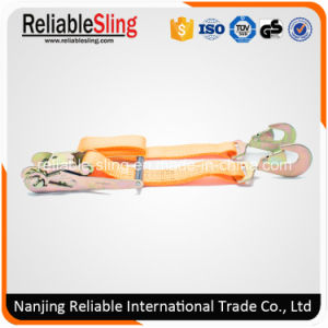 Ce GS ISO 2 Inch 5000 Kg Orange Tie Down with Plastic Ratchet Handle pictures & photos