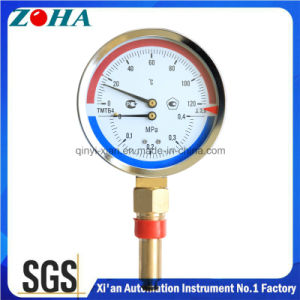 100mm Diameter Stem Length 64mm Pressure & Temperature Gauge pictures & photos