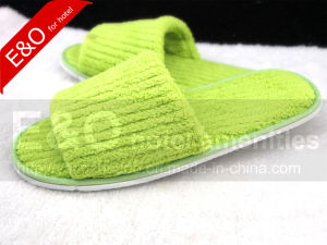 Hotel High Quality Soft Plush Slippers for 5 Stars Hotel pictures & photos