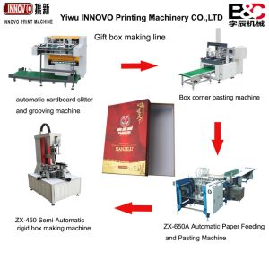 Automatic Gift Paper Box Making Machines Feeding and Pasting Machine pictures & photos