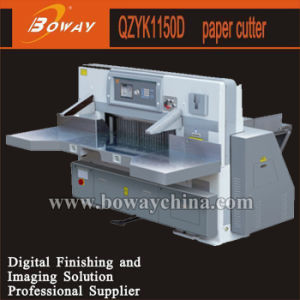 115cm 8 Program Control Double Hydraulic Double Guide Paper Cutting Machine Qzyk1150d pictures & photos