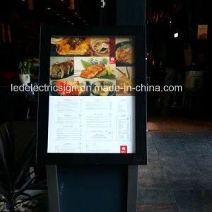 Food Display with Menu Board Made of Light Guide Panel pictures & photos
