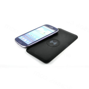 Hotsale Qi Portable Black Wireless Charger with Micro USB Universal