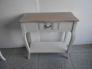 1 Striated Drawer Wide Side Table (FCJ03977)