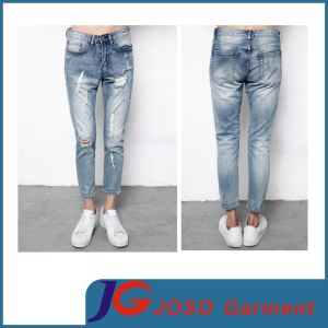 Men Sport Style Grey Ripped Skinny Jeans (JC3391) pictures & photos