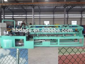 Automatic Double Wire Mesh Chain Link Fence Machine pictures & photos
