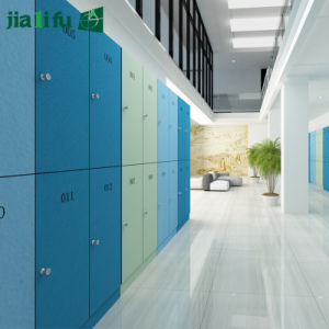 Jialifu 2 Tier HPL Wooden Color Locker for Students pictures & photos