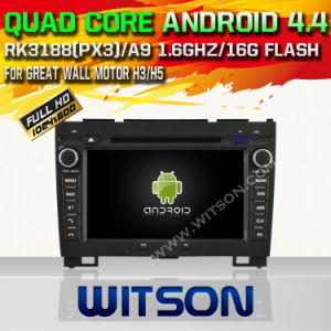 Witson Android 4.4 Car DVD for Great Wall Motor H3/H5 with Quad Core Rockchip 3188 1080P 16g ROM WiFi 3G Internet Font DVR Picture in Picture (W2-F9375W) pictures & photos